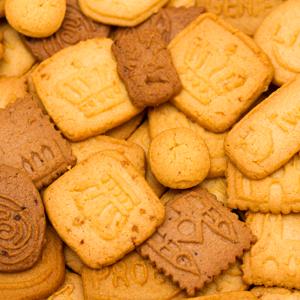 Assortiment losse koekjes